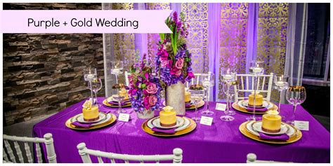 Purple And Gold Decorations by Purple Wedding With Gold Accents Edmonton Wedding