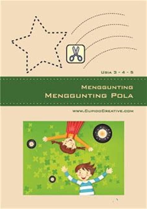 Buku Edukasi Gunting Tempel Mewarnai 1 kerajinan anak tk balita gunting tempel hiasan gambar