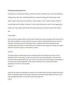 Concept Essay by 8 Concept Essay Exles Sles