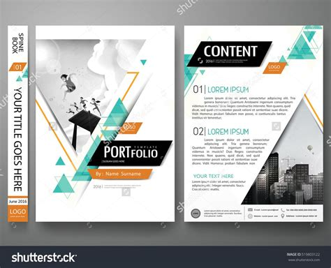 Portfolio Design Template Vector Minimal Brochure Report Business Flyers Magazine Poster Flyers Design Templates