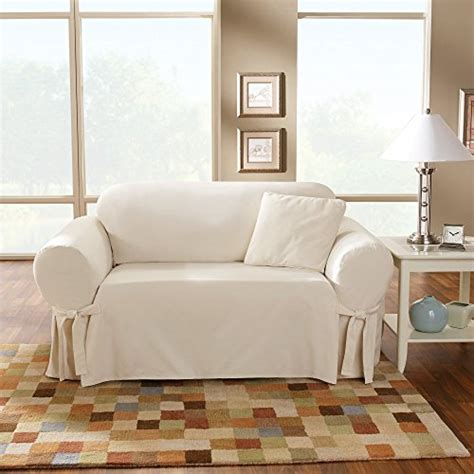 sure fit cotton duck sofa slipcover natural sure fit cotton duck sofa slipcover natural
