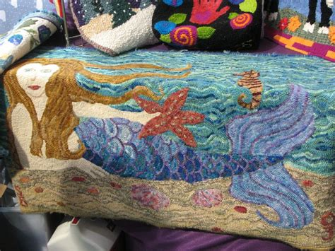 mermaid rugs 79 best images about hooked mermaids on mermaids mermaid paintings and rug hooking