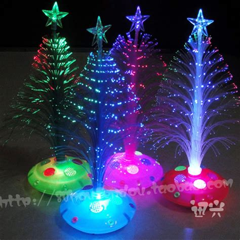 25cmchristmas tree fiber optic light colorful light
