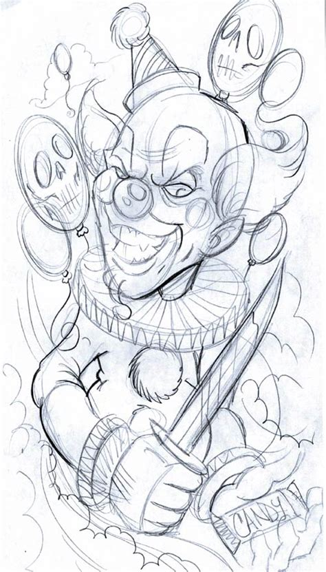 evil clown tattoos free tattoo ideas clown monsters tattoo design art flash pictures images