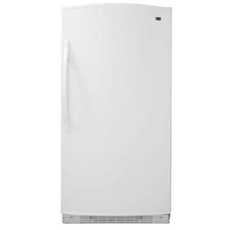 maytag 20 1 cu ft free upright freezer in white