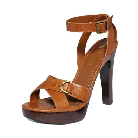 ralph high heel sandals lyst by ralph strappy platform sandals