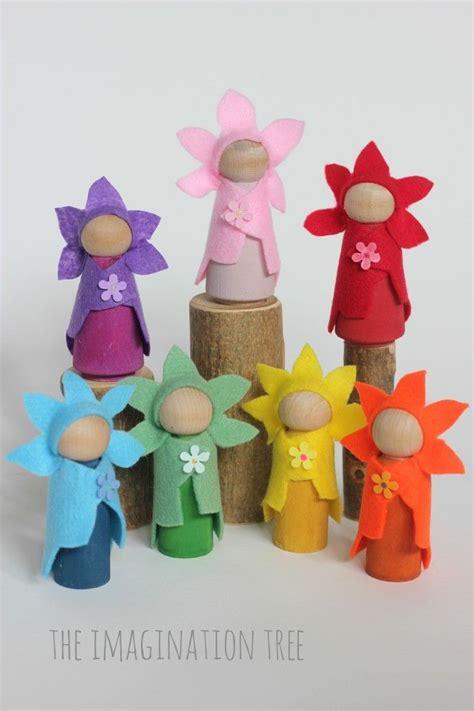 diy doll crafts diy flower wooden peg dolls flower fairies