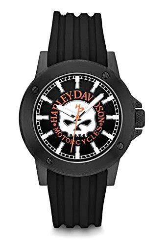 Harley Davidson Bulova Blk White cool mens biker jewelry for every occasion motorcycle