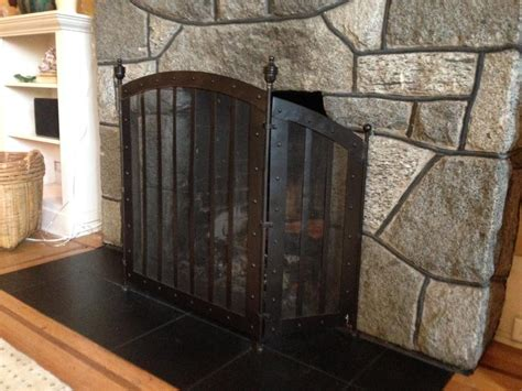 antique wrought iron fireplace screen victoria city victoria