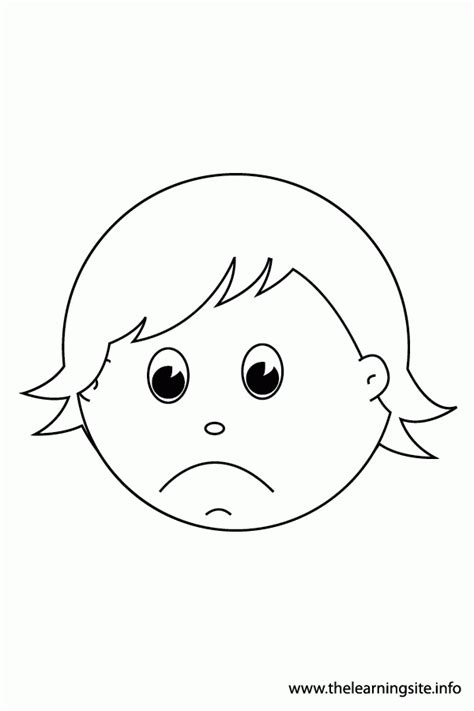 coloring pages of children s faces coloring page of a sad coloring home