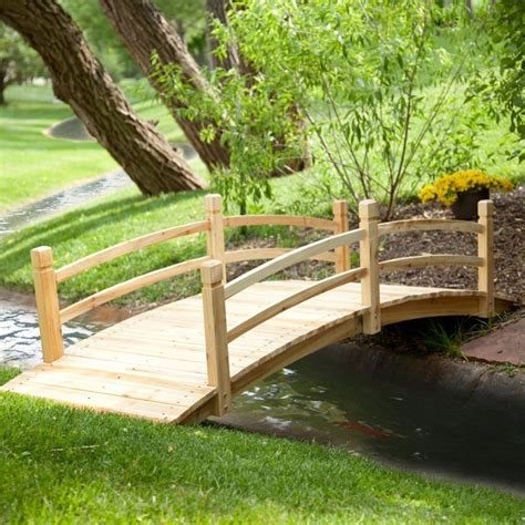 garden bridges coral coast harrison 8 ft wood garden bridge ebay