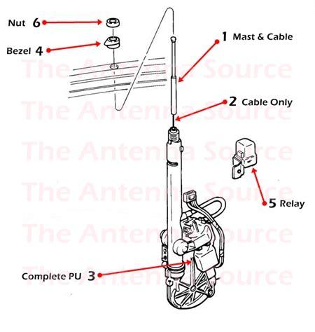1992 1994 buick riviera antenna parts 01646745 22039696 19245561 01646469 19151302