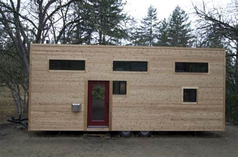 tiny house build couple builds amazing mortgage free modern tiny house