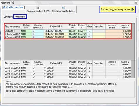 Inps Codice Sede by Gbsoftware Mancano I Contributi Previdenziali Nei