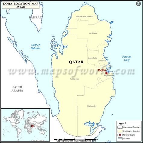 where is doha on world map where is doha location of doha in qatar map