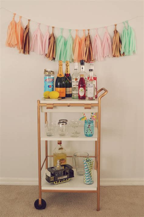 ikea cart hack diy ikea hack bar cart blush and jelly