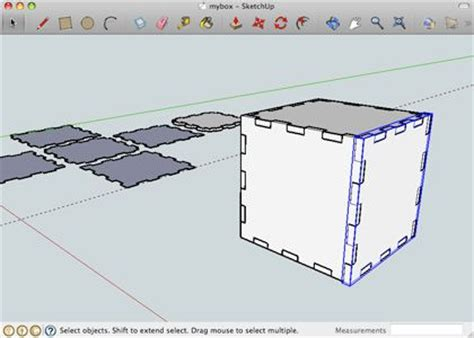 pattern generator sketchup boxmaker app generates plans for laser cut boxes given