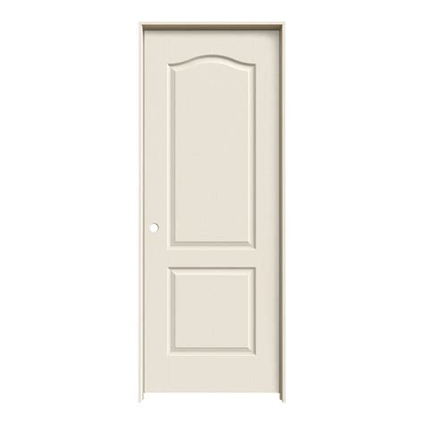 Jeld Wen Doors Interior Jeld Wen 32 In X 80 In Molded Smooth 2 Panel Eyebrow Primed White Solid Composite Single