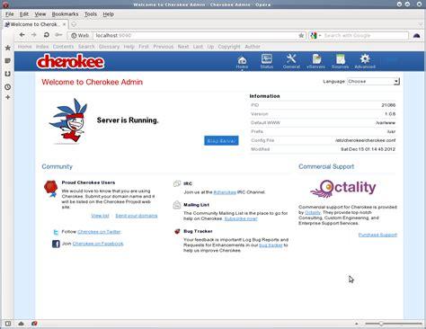 linux pattern webserver linux cherokee admin screenshot nixcraft