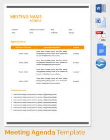 Template For Meeting Agenda by Meeting Agenda Template 46 Free Word Pdf Documents