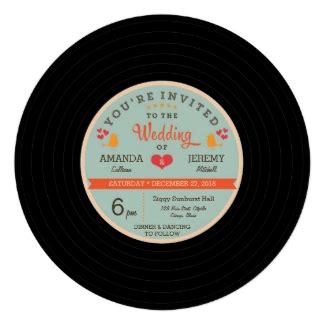 retro vinyl record modern chic modern retro vinyl record wedding invitations and