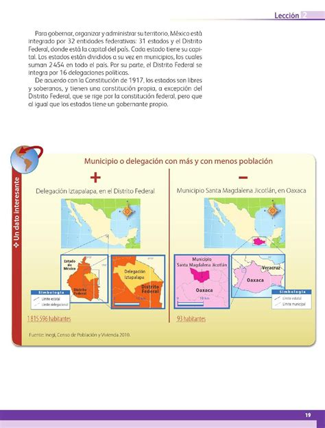 libro de geografa 4 ao de primaria 2015 m 233 xico y su divisi 243 n pol 237 tica bloque i lecci 243 n 2