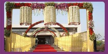 Indian Wedding Decorations A Wedding Planner Indian Wedding Hall And Mandap Entrance Decorations
