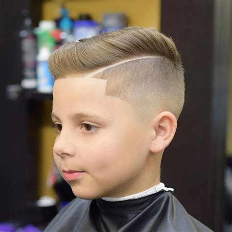 a line kid cut side part with line up haircuts for boy kid boy line up