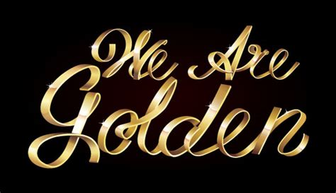 lettering vector tutorial stay golden with this shiny metallic text art effect in