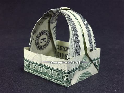 Origami Gift Basket - tip gift basket dollar origami unique gift made of real