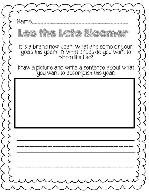 Leo The Late Bloomer Coloring Page leo the late bloomer worksheets fioradesignstudio