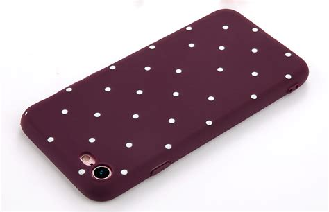 for iphone se 6 6s 7 plus slim shockproof silicone polka