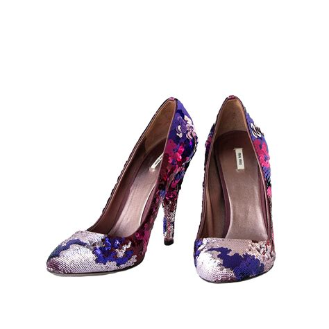 sequin shoes miu miu sequin shoes modsie