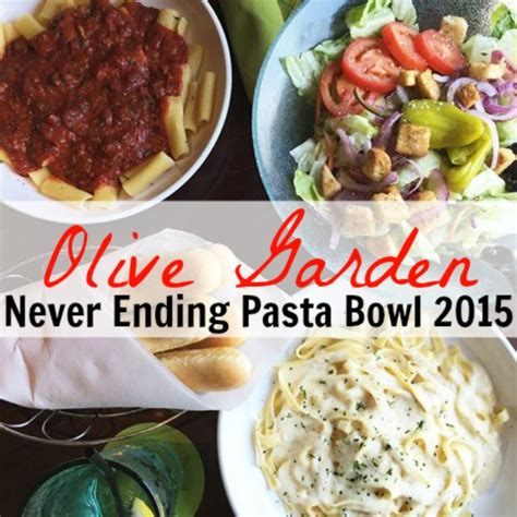 Olive Garden Pasta Bowl by Olive Garden Never Ending Pasta Bowl Is Back For 2015