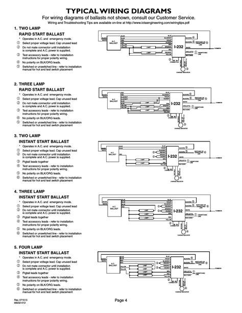 Iota I320 Emergency Ballast Wiring Diagram | Free Wiring