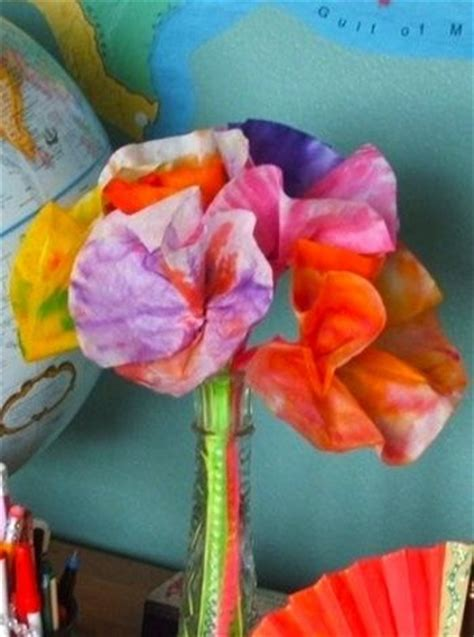 coffee filter crafts for coffee filter flowers scout kid craft ideas
