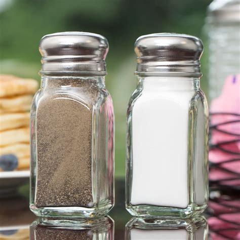 salt pepper shakers shop all salt pepper shakers tablecraft 154sp 2 oz square salt and pepper shaker 12 pack