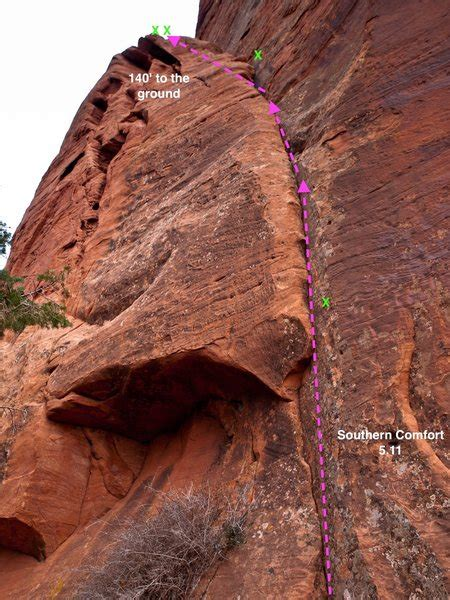 co op southern comfort rock climb southern comfort zion national park