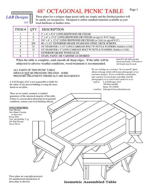 octagon picnic table plans pdf best 25 picnic table plans ideas on