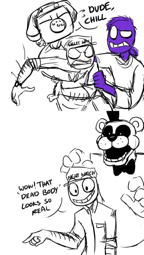 Schfifty Five Know Your Meme - mike phone guy scott purple guy and freddy fnaf