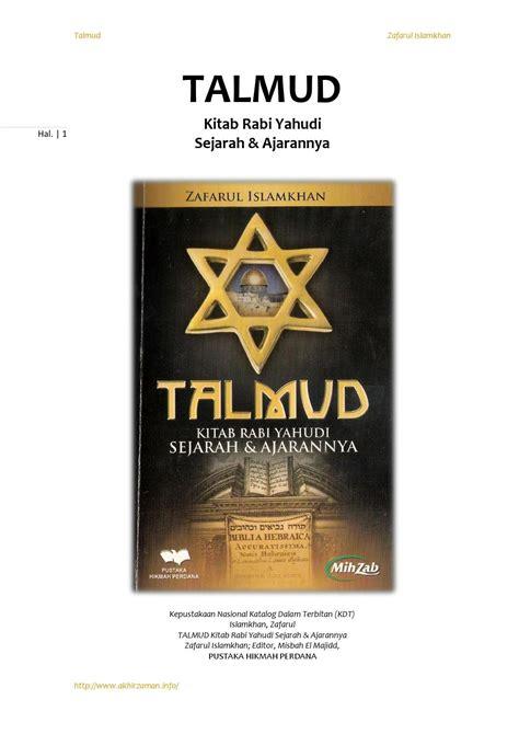 Para Priyayi Asli Buku Sastra talmud kitab rabi yahudi sejarah dan ajarannya by mahfuz