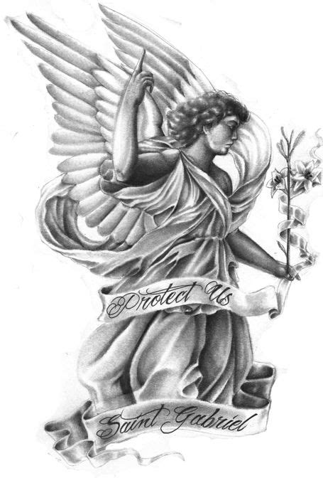 angel gabriel tattoo designs gabriel saints and tattoos and on