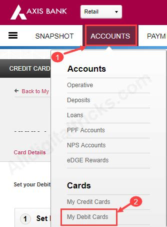 forgot my bank card pin forgot axis bank atm debit card pin how to reset