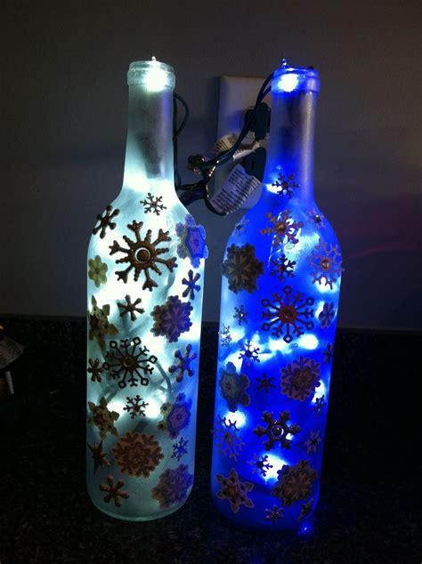 decorated wine bottles christmas wine bottles pinterest