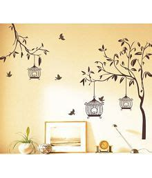 Wall Stiker 60x90 Ay803b Black Tree With Frame wall decor upto 90 wall for home decoration snapdeal