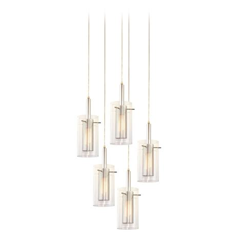 Multi Glass Pendant Lights Modern Multi Light Pendant Light With Clear Glass And 5 Lights 4397 57 Destination Lighting