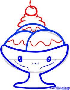 How to draw a sundae sundae step by step food pop culture free