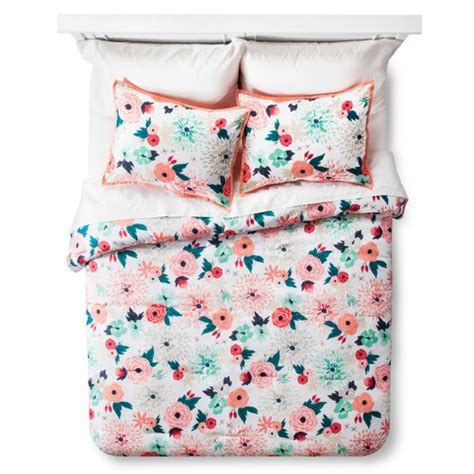 target bedding sets for multi floral printed comforter set multicolor target