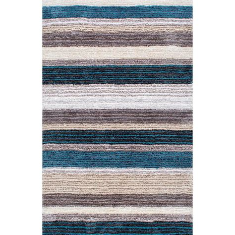 Blue And Brown Bathroom Rugs Nuloom Don Blue Multi 9 Ft X 12 Ft Area Rug Hjzom1b 9012 The Home Depot