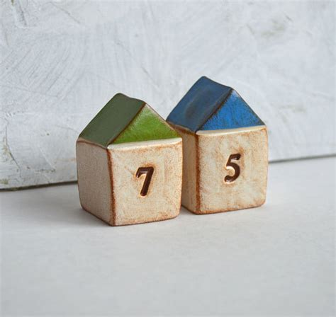 Handmade Housewarming Gifts - housewarming new house gift two handmade number houses